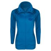 Ladies Sport Wick Stretch Full Zip Sapphire Jacket-Wabash