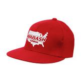 Red OttoFlex Flat Bill Pro Style Hat-Wabash