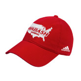 Adidas Red Slouch Unstructured Low Profile Hat-Wabash