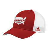 Adidas Red Structured Adjustable Hat-Wabash