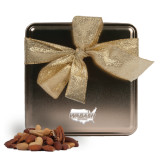 Deluxe Nut Medley Gold Medium Tin-Wabash Engraved