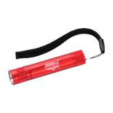 Pluto Red Slim Flashlight-Wabash Engraved