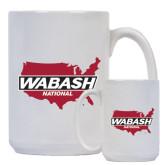 Full Color White Mug 15oz-Wabash