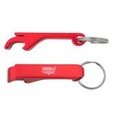 Aluminum Red Bottle Opener-Wabash Engraved
