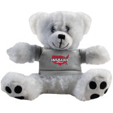 Plush Big Paw 8 1/2 inch White Bear w/Grey Shirt-Wabash