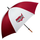62 Inch Cardinal/White Umbrella-Wabash