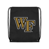 Black Drawstring Backpack-WF