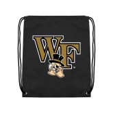 Black Drawstring Backpack-WF w/ Deacon Head