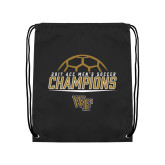 Black Drawstring Backpack-2017 Mens Soccer Champions