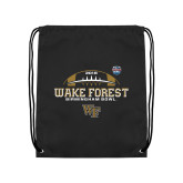 Black Drawstring Backpack-Birmingham Bowl Offical Logo