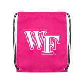 Pink Drawstring Backpack-WF