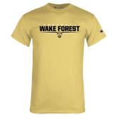 Champion Vegas Gold T Shirt-Football Design