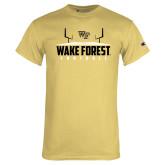 Champion Vegas Gold T Shirt-Football Field Design