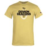 Champion Vegas Gold T Shirt-Stacked Football Design