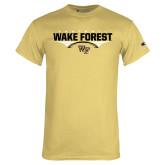 Champion Vegas Gold T Shirt-Football Wing Design