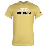 Champion Vegas Gold T Shirt-Arched Basketball Design