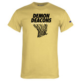 Champion Vegas Gold T Shirt-Basketball Net Design
