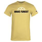 Champion Vegas Gold T Shirt-Soccer Outline Design
