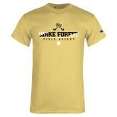 Champion Vegas Gold T Shirt-Stacked Field Hockey Design