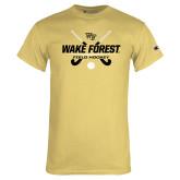 Champion Vegas Gold T Shirt-Field Hockey Design