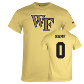 Champion Vegas Gold T Shirt-WF, Custom Tee w/ Name and #