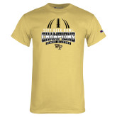 Champion Vegas Gold T Shirt-2017 Belk Bowl Champions - Football Stacked