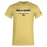 Champion Vegas Gold T Shirt-2017 Belk Bowl Champions - Stacked Bars