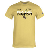 Champion Vegas Gold T Shirt-2017 Belk Bowl Champions - Brush Script