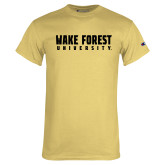 Champion Vegas Gold T Shirt-Wake Forest University
