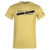 Champion Vegas Gold T Shirt-Slanted Wake Forest Demon Deacons
