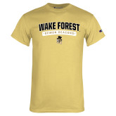 Champion Vegas Gold T Shirt-Arched Wake Forest Demon Deacons