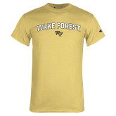 Champion Vegas Gold T Shirt-Arched Wake Forest w/ WF