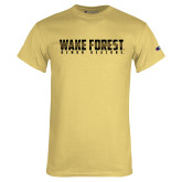 Champion Vegas Gold T Shirt-Wake Forest Wordmark Design