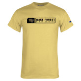 Champion Vegas Gold T Shirt-Wake Forest Bar Design
