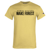 Champion Vegas Gold T Shirt-Stacked Demon Deacons Wake Forest