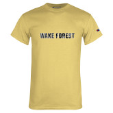 Champion Vegas Gold T Shirt-Wake Forest Polygon Texture