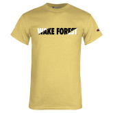 Champion Vegas Gold T Shirt-Diagonal Two Tone Wake Forest