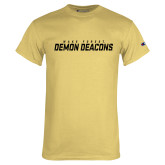 Champion Vegas Gold T Shirt-Wake Forest Demon Deacons Stencil