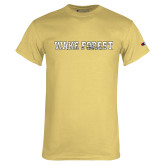 Champion Vegas Gold T Shirt-Wake Forest Splatter Texture