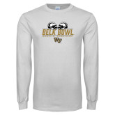 White Long Sleeve T Shirt-Belk Bowl - Helmets Design