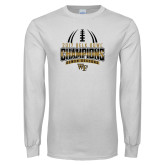 White Long Sleeve T Shirt-2017 Belk Bowl Champions - Football Stacked