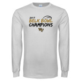 White Long Sleeve T Shirt-2017 Belk Bowl Champions - Brush Script