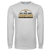 White Long Sleeve T Shirt-2017 Belk Bowl Champions - Football Arched