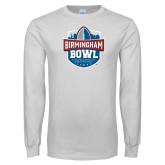 White Long Sleeve T Shirt-Birmingham Bowl Offical Logo