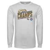 White Long Sleeve T Shirt-2018 Birmingham Bowl Champs