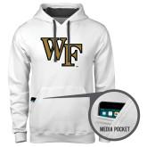Contemporary Sofspun White Hoodie-WF