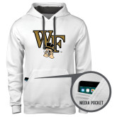Contemporary Sofspun White Hoodie-WF w/ Deacon Head