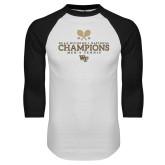 White/Black Raglan Baseball T-Shirt-2018 Mens Tennis Champions