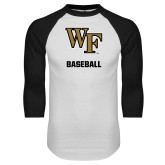 White/Black Raglan Baseball T-Shirt-WF Baseball