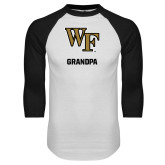 White/Black Raglan Baseball T-Shirt-WF Grandpa